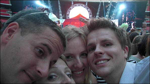 Soaking up the atmosphere at Wembley for Take That