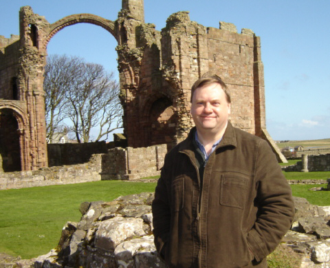 Jeff at Lindisfarne