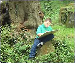 Image of a children sketching