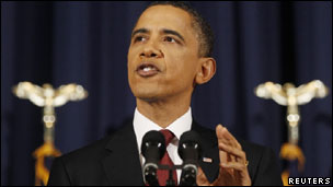 President Barack Obama speaks on Libya