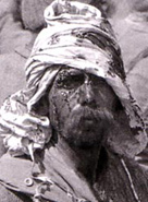 A photograph that shows a Turkish soldier taken prisoner in Mesopotamia by the Allies in 1917
