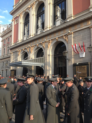Members of the Austrian Army at the Musikverein