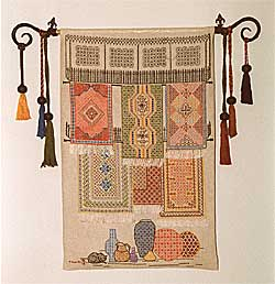 Wall hanging produced by Thelma Goldring