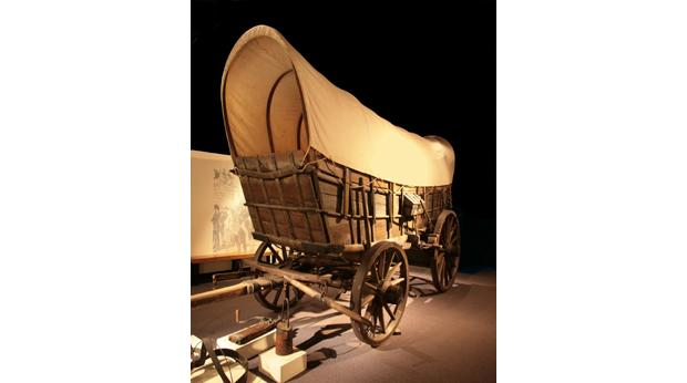 Conestoga wagon from the eastern North America circa 1800.