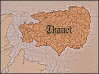 Old map of Thanet