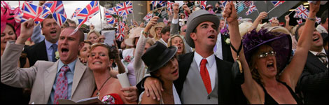 Enjoy a win on the horses like this crowd at Royal Ascot.