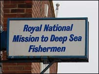 Fishermen's Mission sign at North Shields
