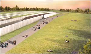Artist's impression of Stonehenge's new visitor centre