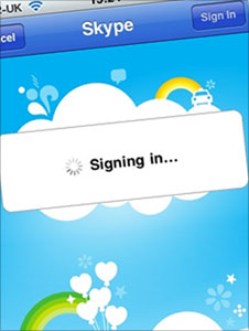 Skype application on iphone