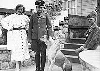 The commandant of Buchenwald, SS Colonel Karl Koch,  with his family