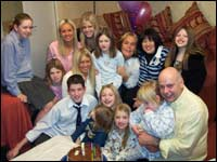The Lewis Family with actress Linda Robson