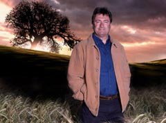 Alan Titchmarsh with standing stones