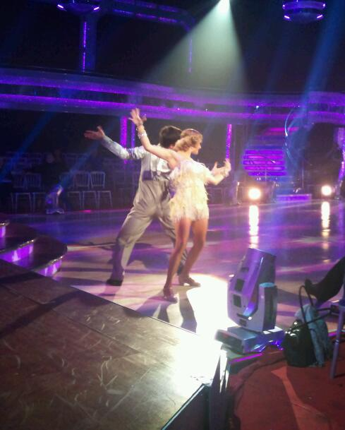 Tina O'Brien and Jared Murillo in Dress Rehearsal for Strictly Come Dancing