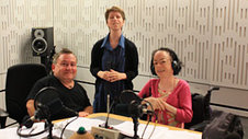 Simon Minty, Jo Langston from the Orpheus Centre and Liz Carr