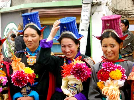 Colourful costumes in Leh