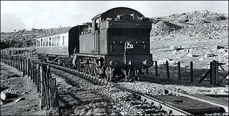 Train on the Princetown line in 1955