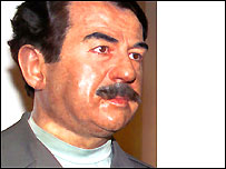 waxwork of Saddam Hussein