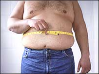 Obese man c/o BBC Science Photo Library