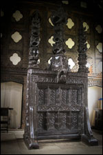 The giant carved wooden screen
