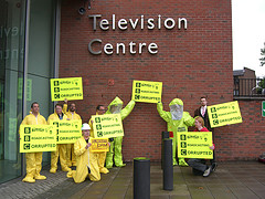 Defective by Design Protest outside BBC
