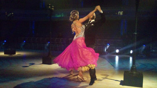 Holly and Artem dancing.