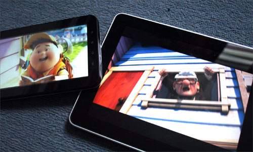 FIlm playing on Apple iPad and Samsung Galaxy Tab