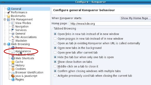 BBC - My Web My Way - Changing colours in Konqueror for KDE 4