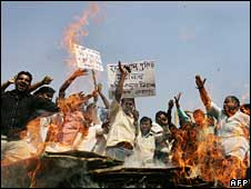 Protests by a caste group in India demanding government benefits