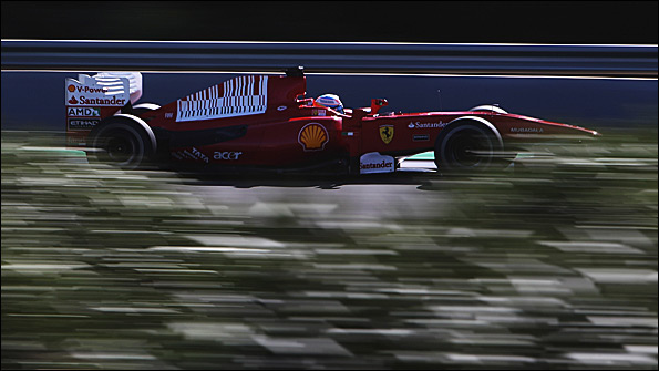 Fernando Alonso in a Ferrari at last week's Jerez test