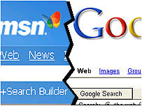google vs msn What's new: msn is set to show off its version of a system for selling text ads linked to search queries and results, a direct challenge to market leaders google and yahoo.