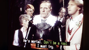 Subtitled Doctor Who from the 1980s