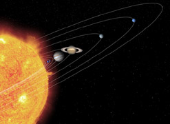 Artist's Impression of the Solar System (credit: NASA)