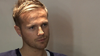 nicky byrne from westlife being interviewed