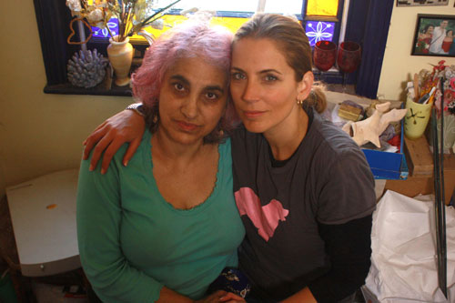 Vasoulla Savvidou and Jasmine Harman at Vasoulla's home