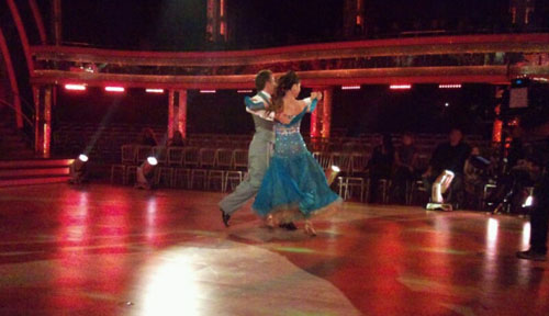 Alex and James in their Quickstep rehearsal.