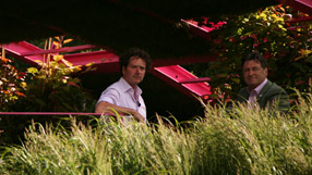 Diarmuid Gavin and Alan Titchmarsh at the Chelsea Flower Show 2011