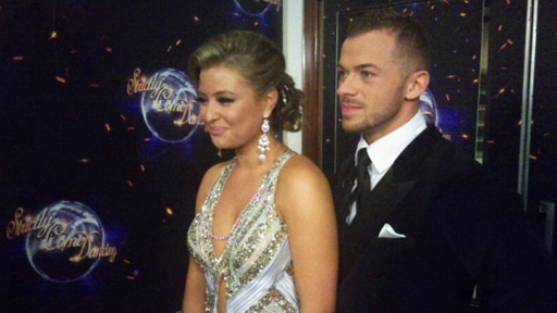 Holly and Artem after their dance.
