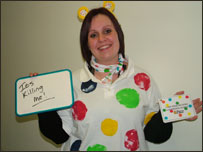 Sponsored silence for Children in Need at Selby College