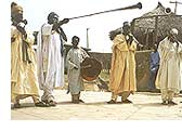 Musicians of the Emir of Zazzau playing instruments, similar to those played in 11th century Kanem