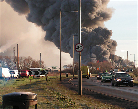 BBC - Cambridgeshire - In Pictures - Photos of Whittlesey fire