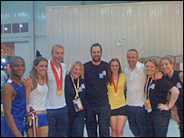 Elspeth with the ceremony team and British Olympians.
