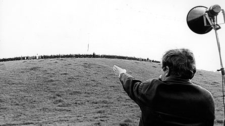Ken Russell directing 300 children in the 1966 TV film Isadora: The Biggest Dancer In The World