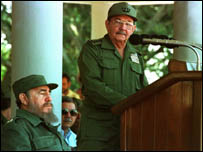 Fidel and Raoul Castro