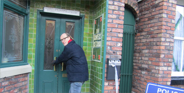 Will Gompertz on Coronation Street set