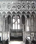 Image of the intricate choir screen at Attleborough church in Norfolk
