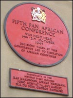 The plaque commemorating the 1945 event