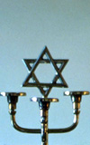 Star of David on a menorah
