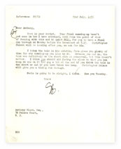 Letter from Guy Burgess to Anthony Blunt.
