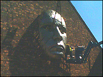 Sculpture on Lincoln Drill Hall
