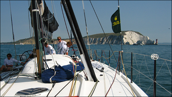 Leaving the Solent in the Fastnet Race